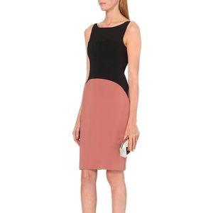 Reiss Odele Color Block Pencil Dress Black Brick